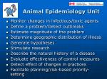 animal epidemiology unit