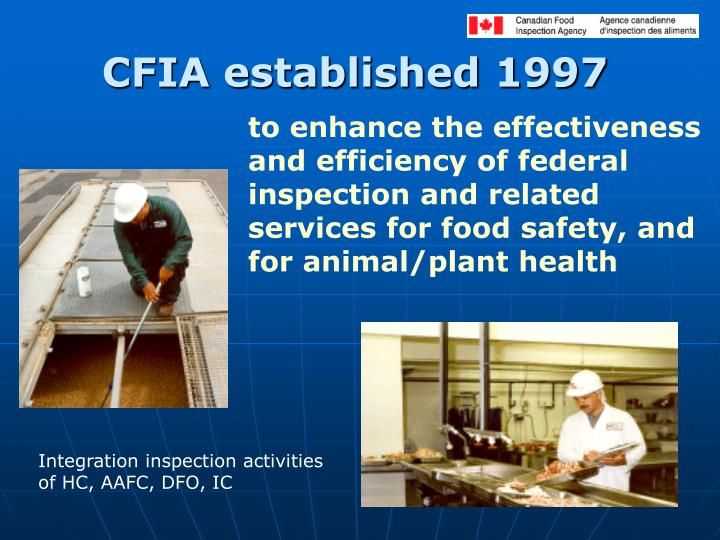 CFIA established 1997