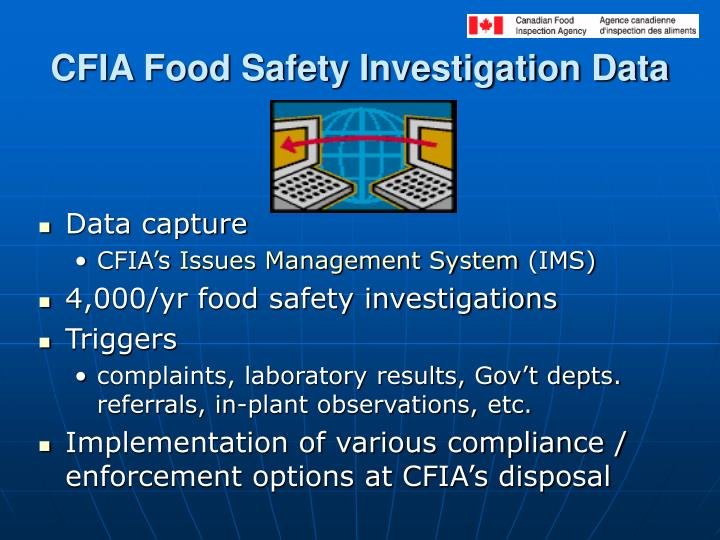 CFIA Food Safety Investigation Data