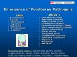 emergence of foodborne pathogens