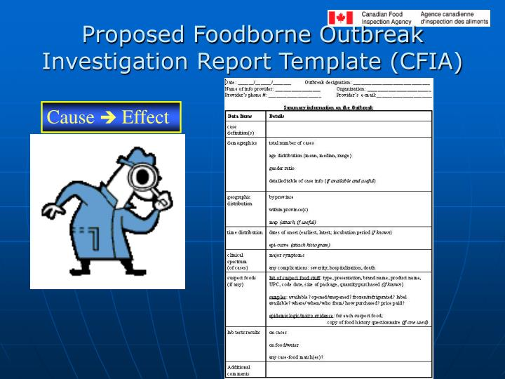 Proposed Foodborne Outbreak