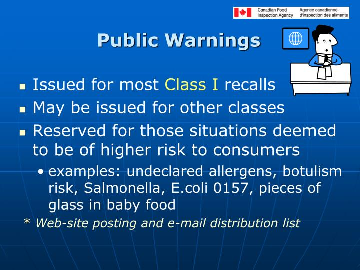 Public Warnings