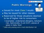 public warnings