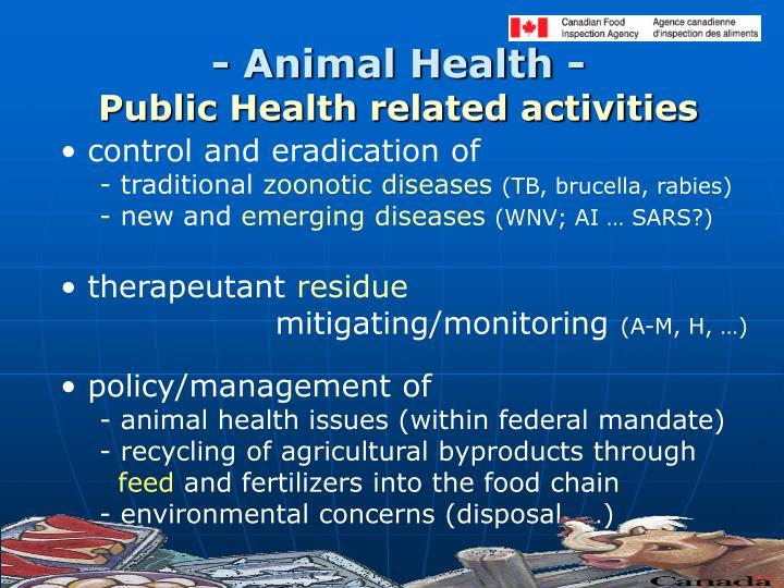 - Animal Health -