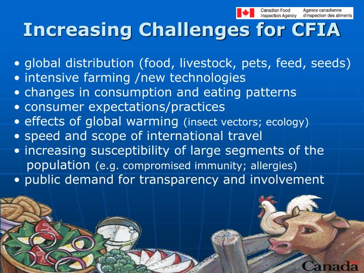 Increasing Challenges for CFIA