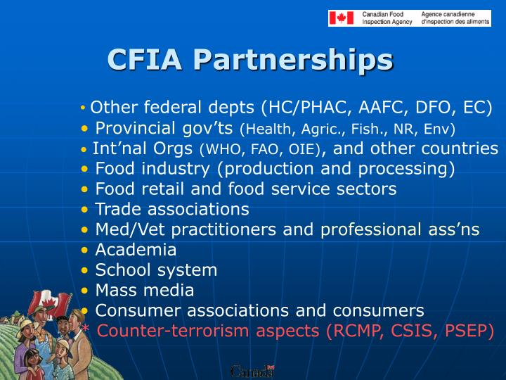 CFIA Partnerships