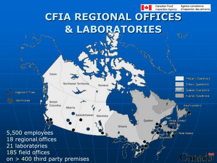 CFIA REGIONAL OFFICES
