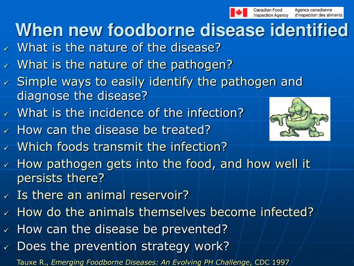 When new foodborne disease identified