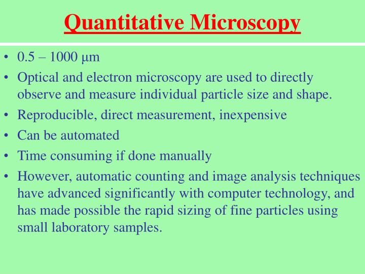 Quantitative Microscopy
