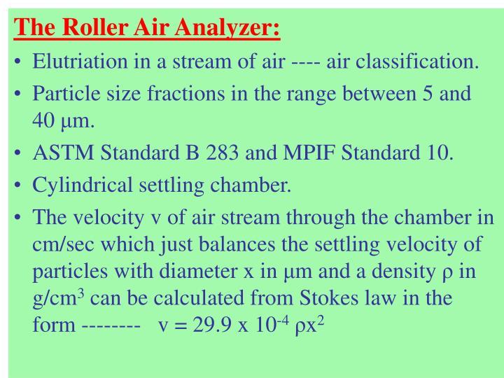 The Roller Air Analyzer: