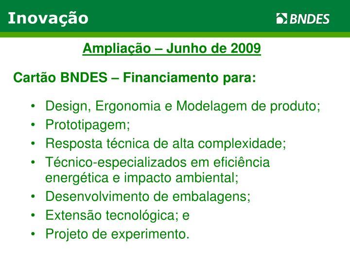 Ampliação – Junho de 2009