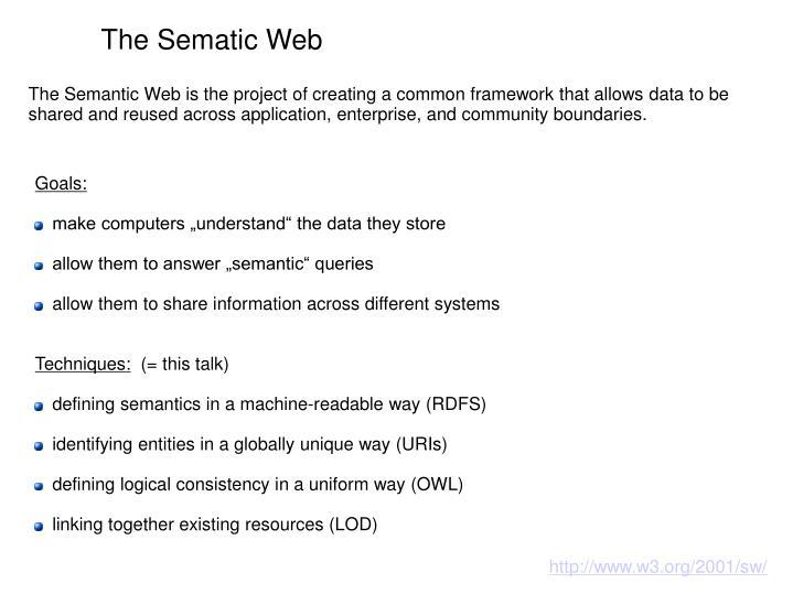 The Sematic Web