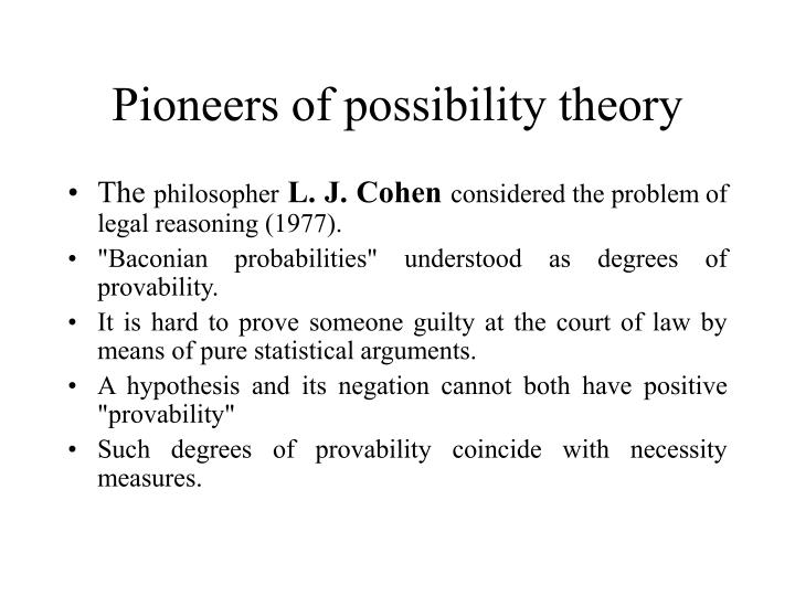 Pioneers of possibility theory