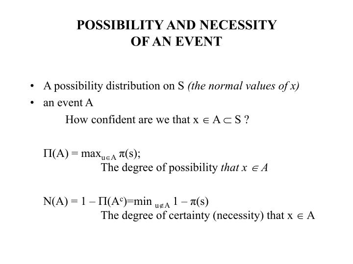 POSSIBILITY AND NECESSITY