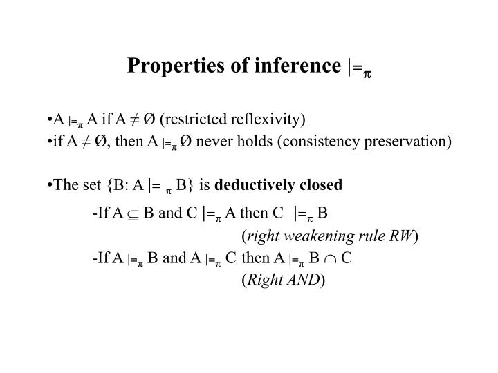 Properties of inference