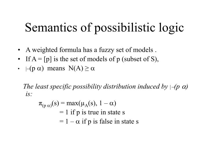 Semantics of possibilistic logic