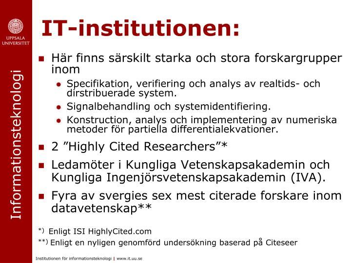 IT-institutionen: