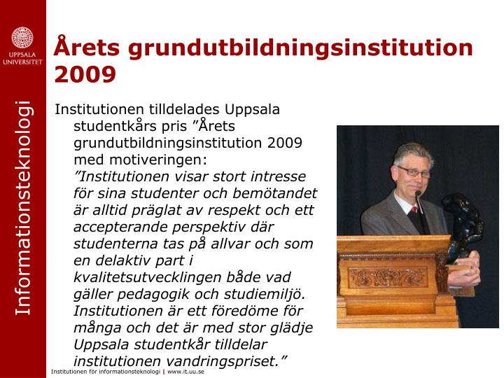 Årets grundutbildningsinstitution 2009