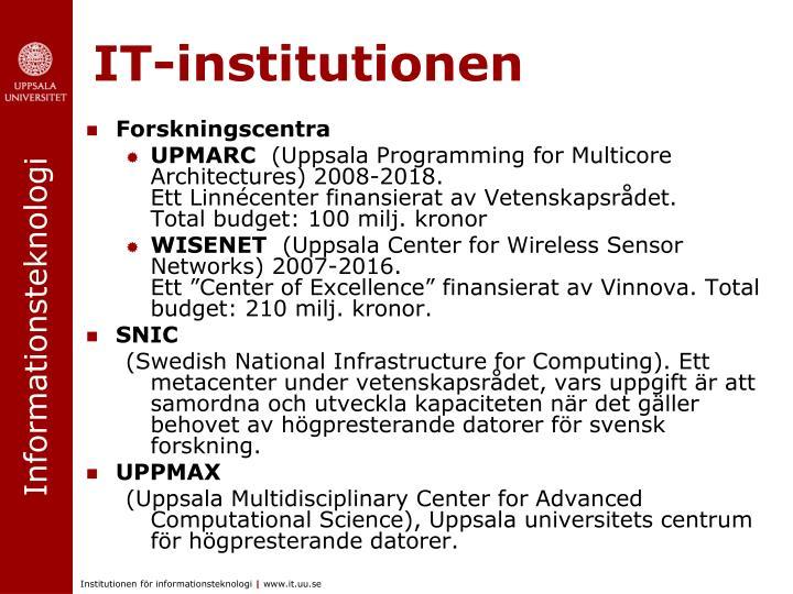 IT-institutionen