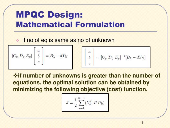 MPQC Design: