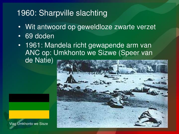 1960: Sharpville slachting