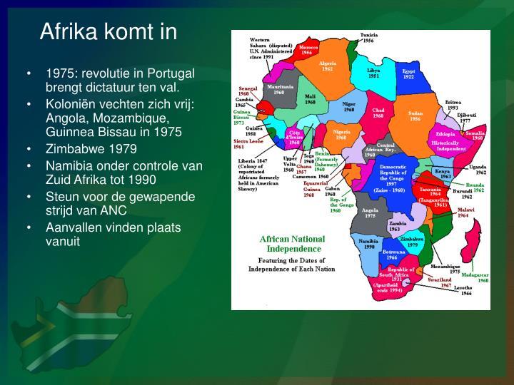 Afrika komt in