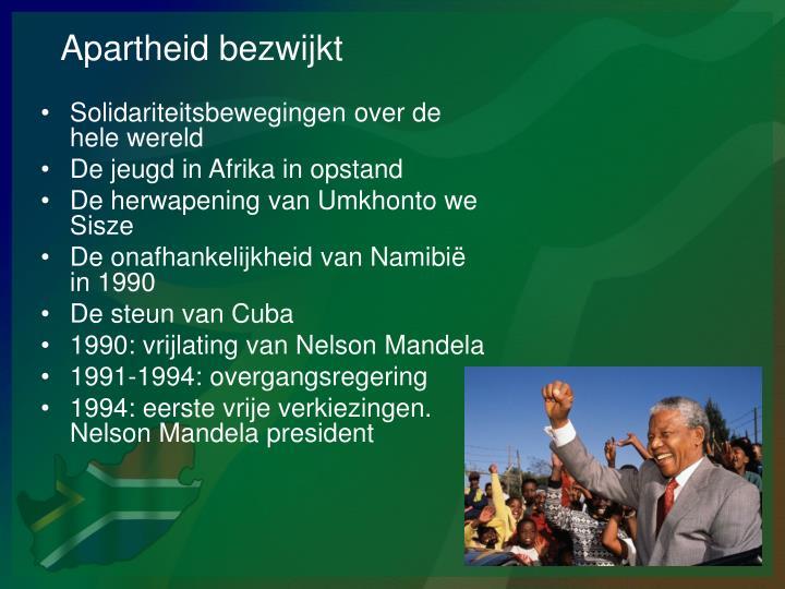 Apartheid bezwijkt
