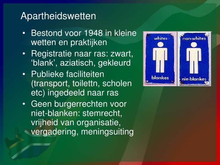 Apartheidswetten