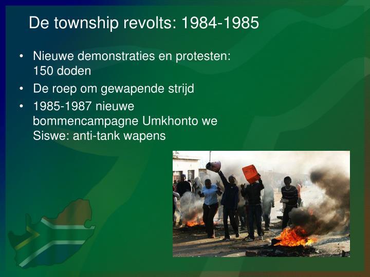 De township revolts: 1984-1985