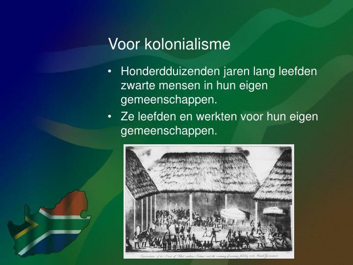 Voor kolonialisme
