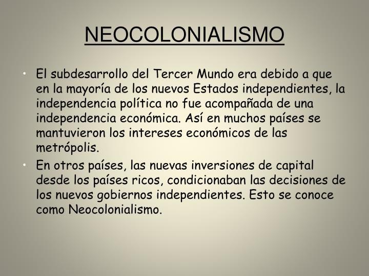 NEOCOLONIALISMO