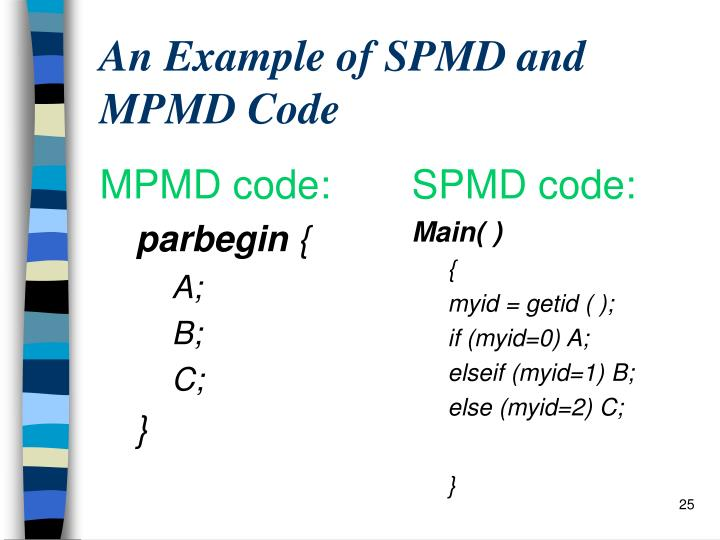 MPMD code: