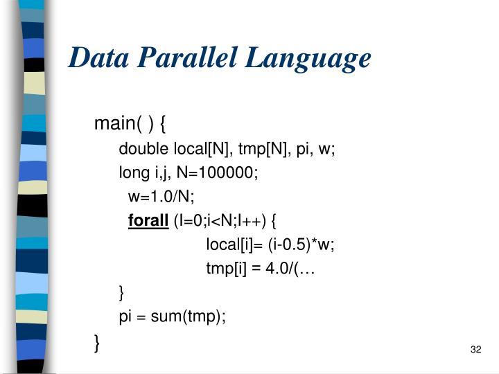 Data Parallel Language