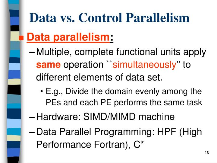 Data vs. Control Parallelism