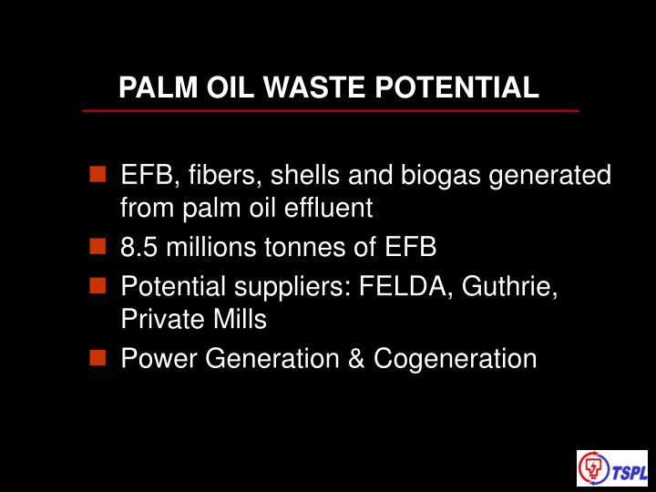 PALM OIL WASTE POTENTIAL