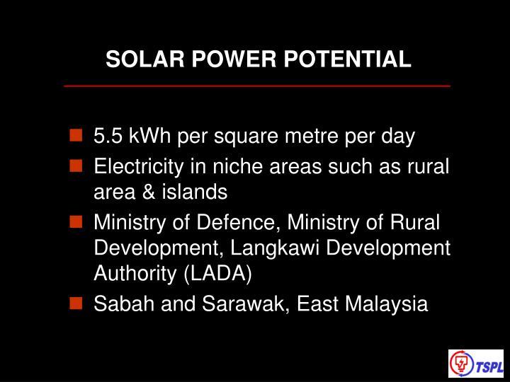 SOLAR POWER POTENTIAL