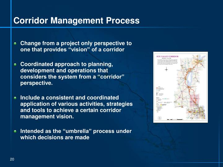 Corridor Management Process