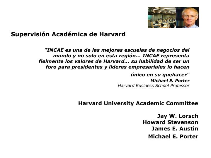 Supervisión Académica de Harvard
