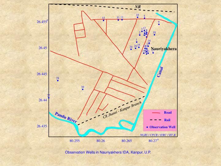 Observation Wells in Nauriyakhera IDA, Kanpur, U.P.