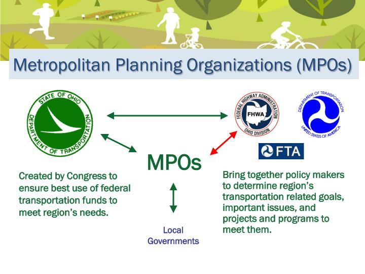 Metropolitan Planning Organizations (MPOs)