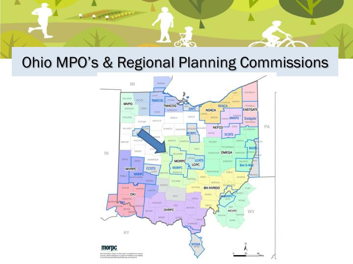 Ohio MPO's & Regional Planning Commissions
