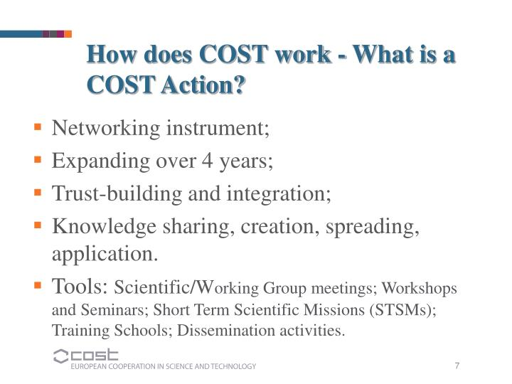How does COST work - What is a COST Action?