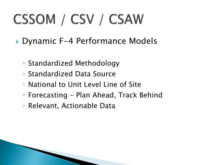 CSSOM / CSV / CSAW