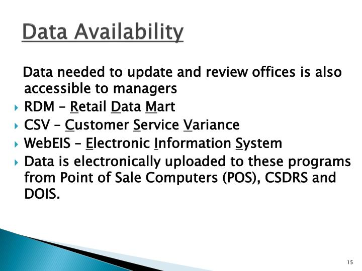 Data Availability