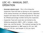 ldc 43 manual dist operation