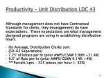 productivity unit distribution ldc 43