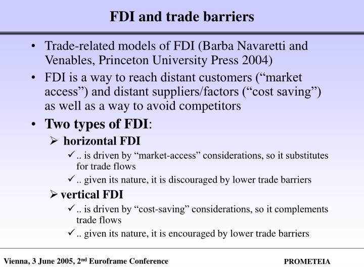 FDI and trade barriers