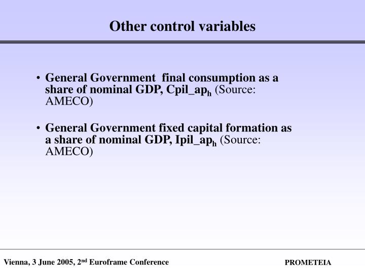 Other control variables
