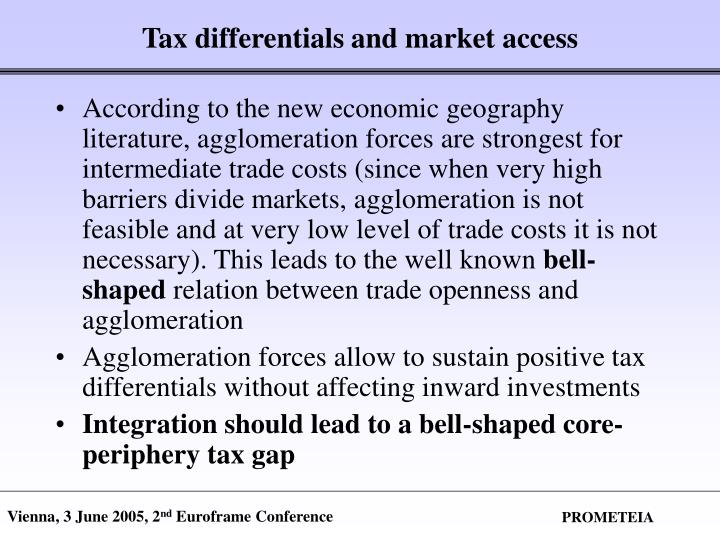 Tax differentials and market access