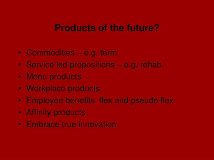 Products of the future?
